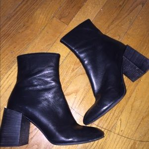 Acne studios Saul black leather ankle booties boot